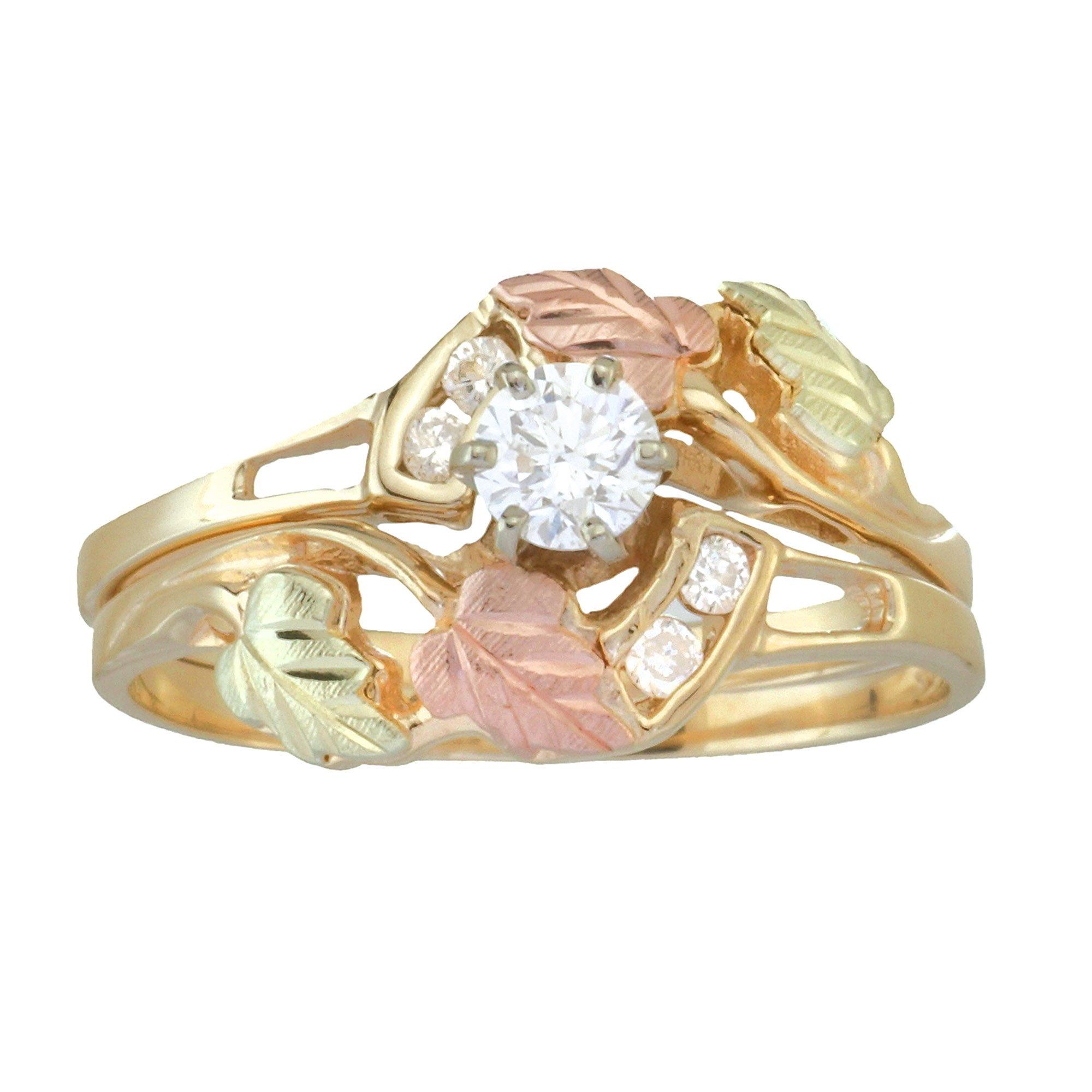Five Diamond Gold Ring Black Hills Gold Black Hills Gold Rings Black Hills Gold Jewelry Black Hills Gold Wedding Rings