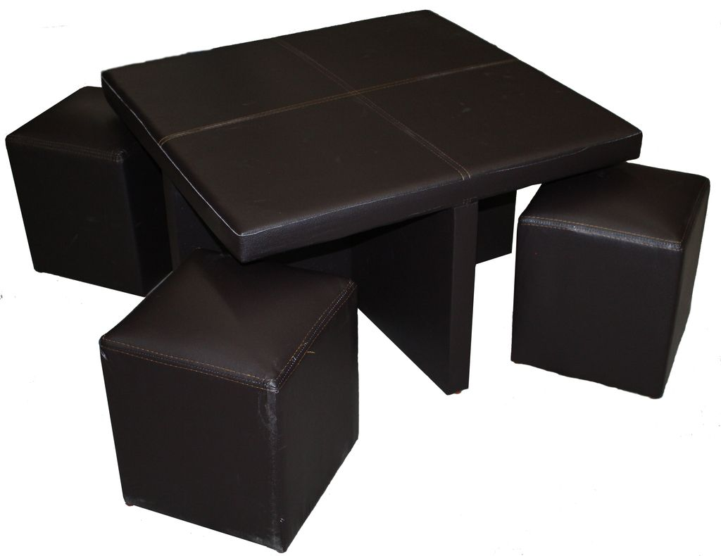 Mesa Con Taburetes Kaos Tactopiel Chocolate Ingenia Muebles  # Muebles Infantiles Lupi Love