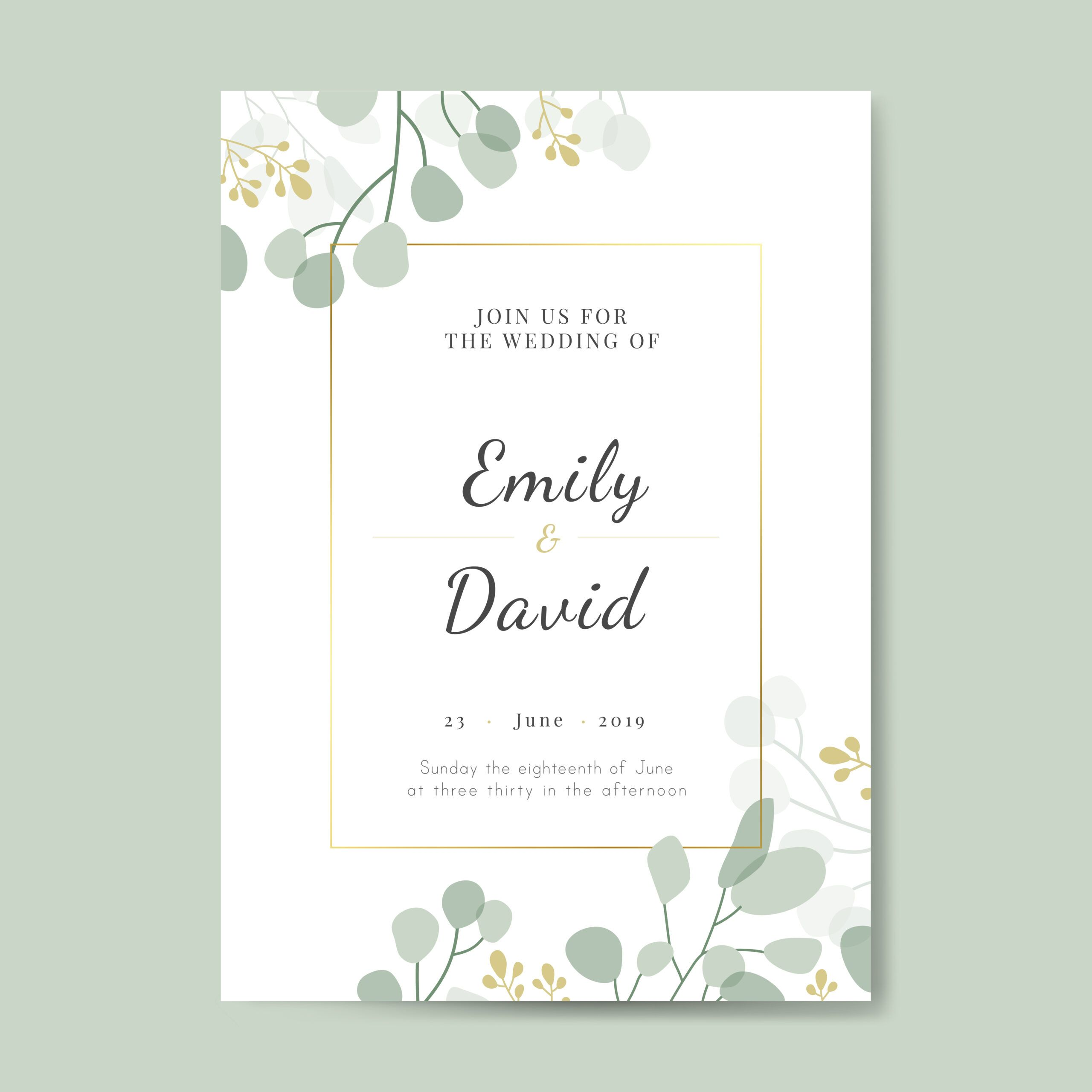 Formal Invitation Card Template Free Download  Wedding invitation