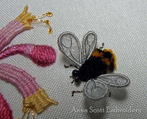 Honeysuckle & Bee