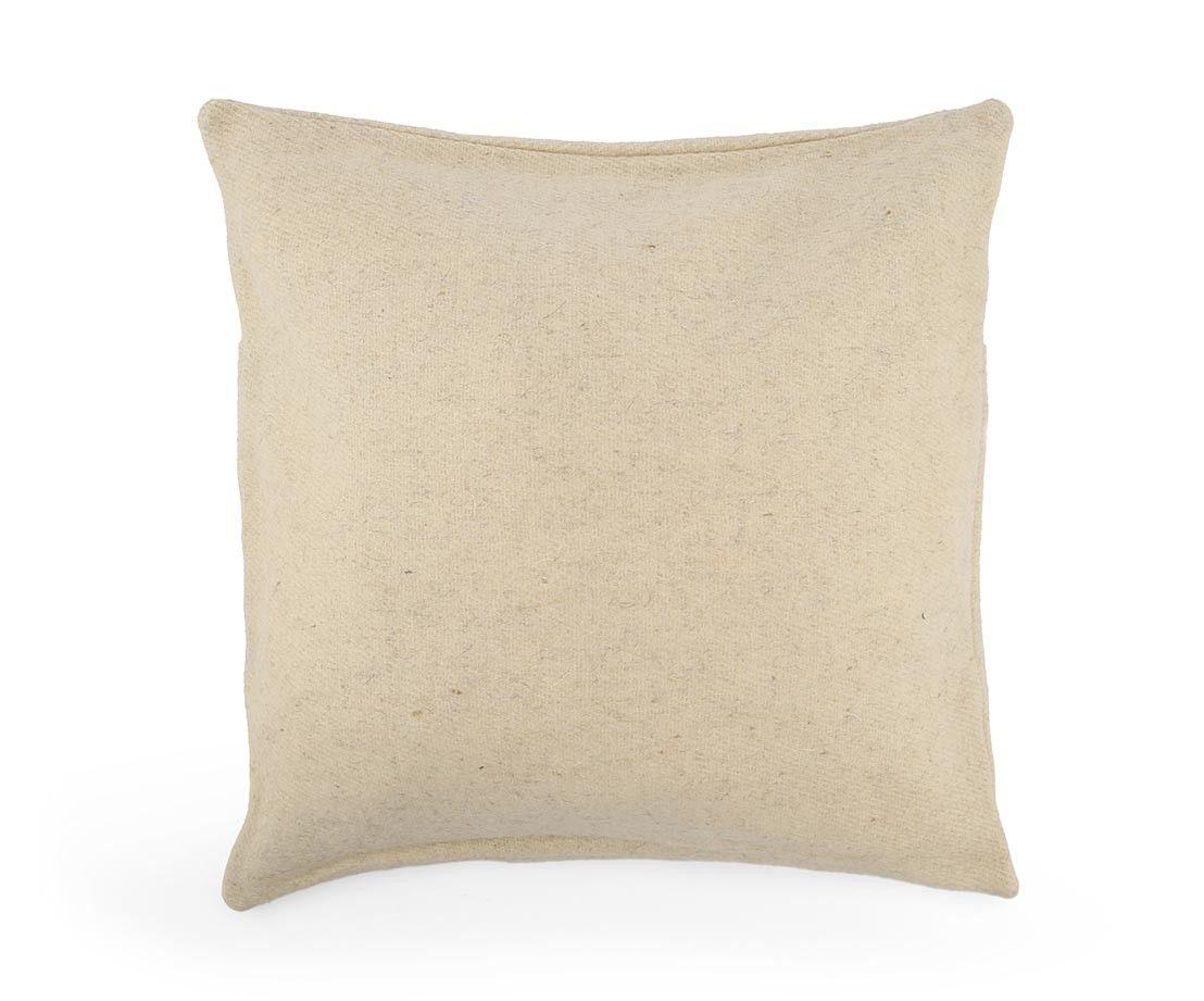 Top Drawer Cream Large Throw Pillow Handmade Virgin Wool Throw  # Muebles Jaime Ibanez