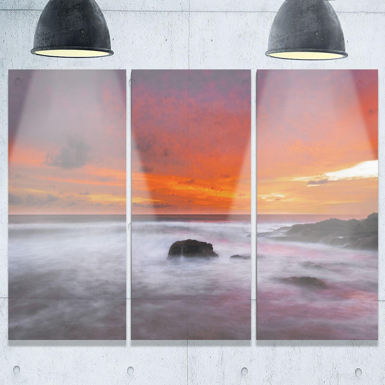 Designart vividly colorful tropical beach at sunset extra
