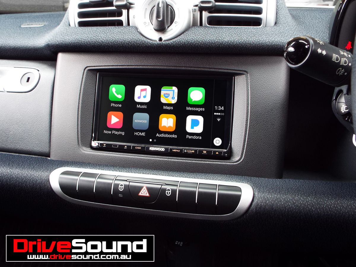 Smart Fortwo with Apple CarPlay installed by DriveSound