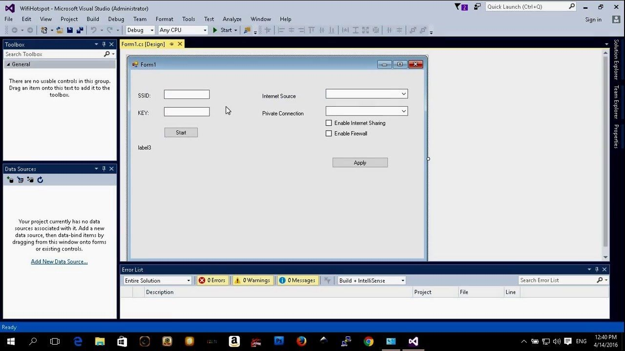 C# Application How To Create A Virtual Wifi Adapter Or Hotspot (demo)