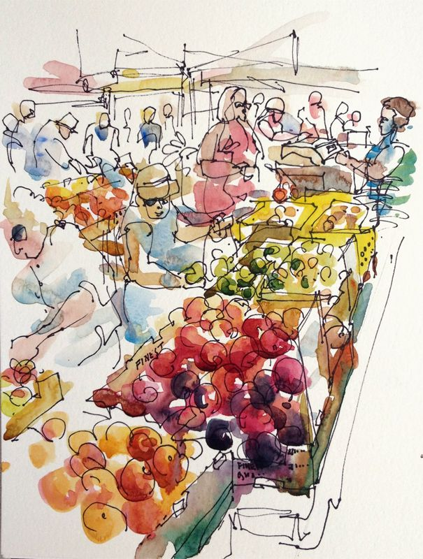 farmers market sketch free farmers market directory farmersmecom - Free Sketches To Paint