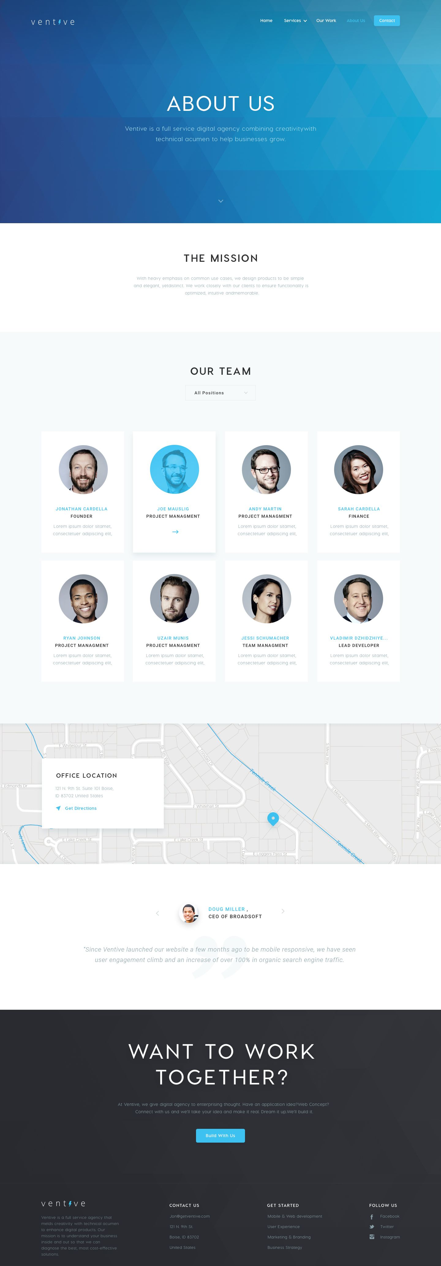 Ventive About Us About Us Page Design Website Design Inspiration Layout Web Layout Design