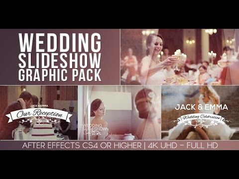 Wedding Slideshow Graphic Pack | After Effects template | After ...
