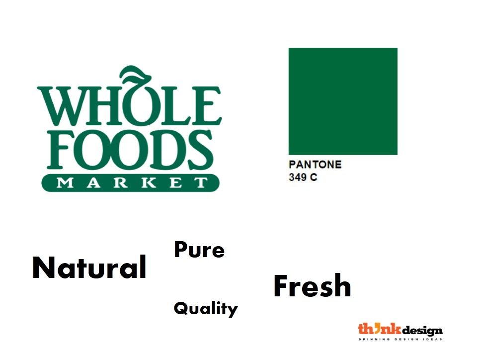 Whole Foods Brand Attributes Depicted From Brandcolor Greenlogos Green Logo Brand Colors Green