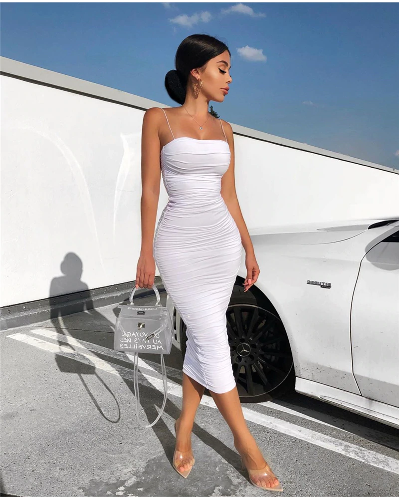 Photo of US $27.35 45% OFF NewAsia Double Layers Sexy Summer Dress 2019 Pink Women Night Dresses Tight Long Party Bodycon Dress Vintage Ruched Midi Dress Dresses    – AliExpress
