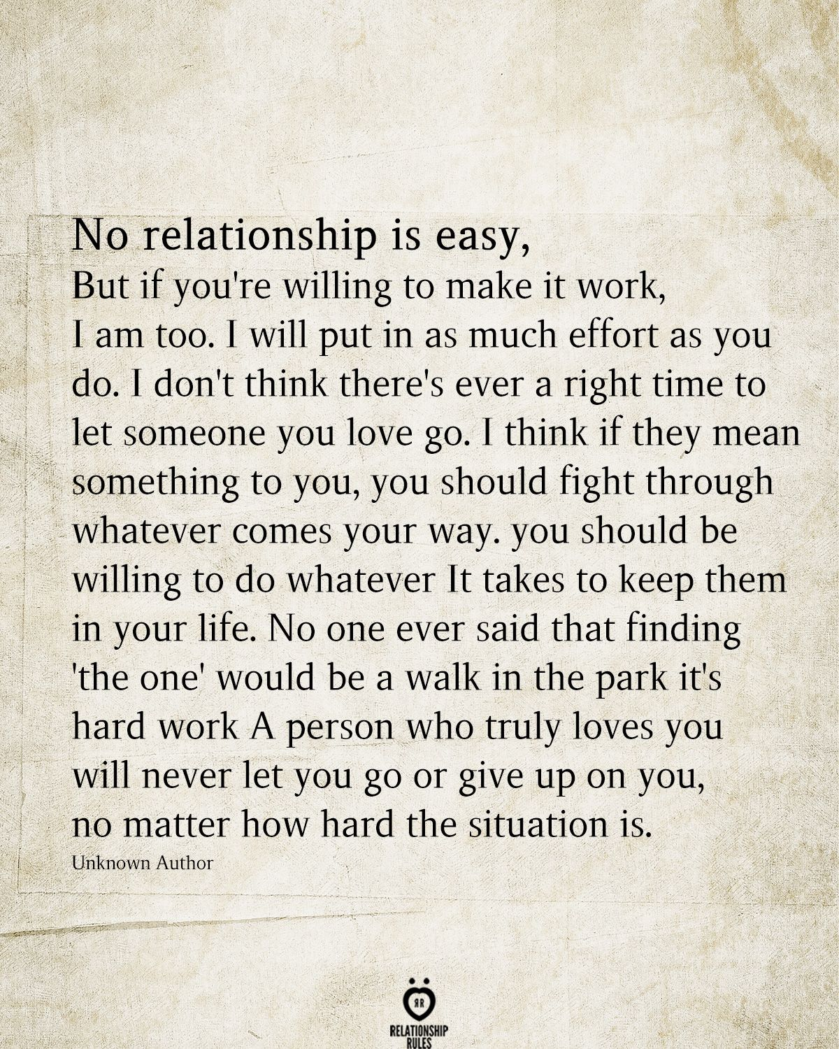 Quotes About Putting Effort Into A Relationship