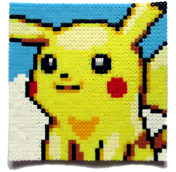 Pikachu Perler Portrait by Aenea-Jones on DeviantArt