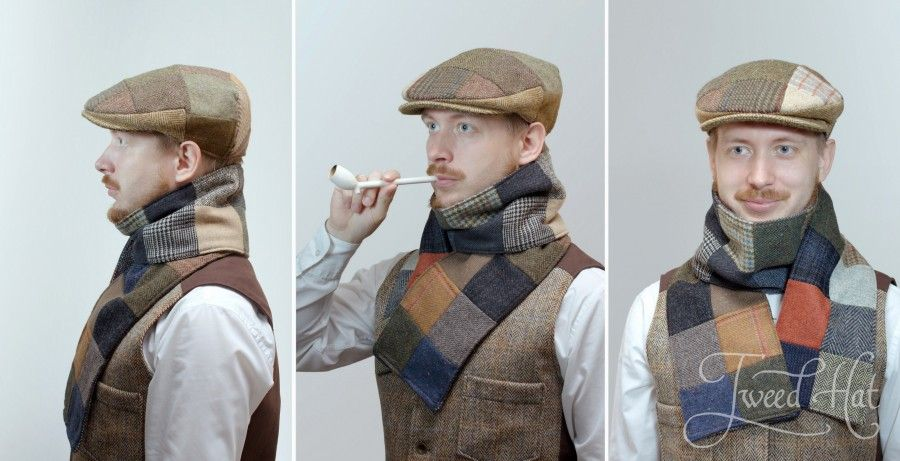 new photos catch no sale tax Patchwork Tweed Vintage Cap by Hanna Hats | Твид, Пэчворк и ...