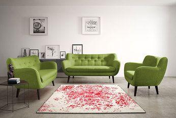 Ensemble Canape Fixe 3 2 Places Vert En Tissu Style Scandinave Alexander 2 Meuble Salon Ensemble Canape Mobilier De Salon