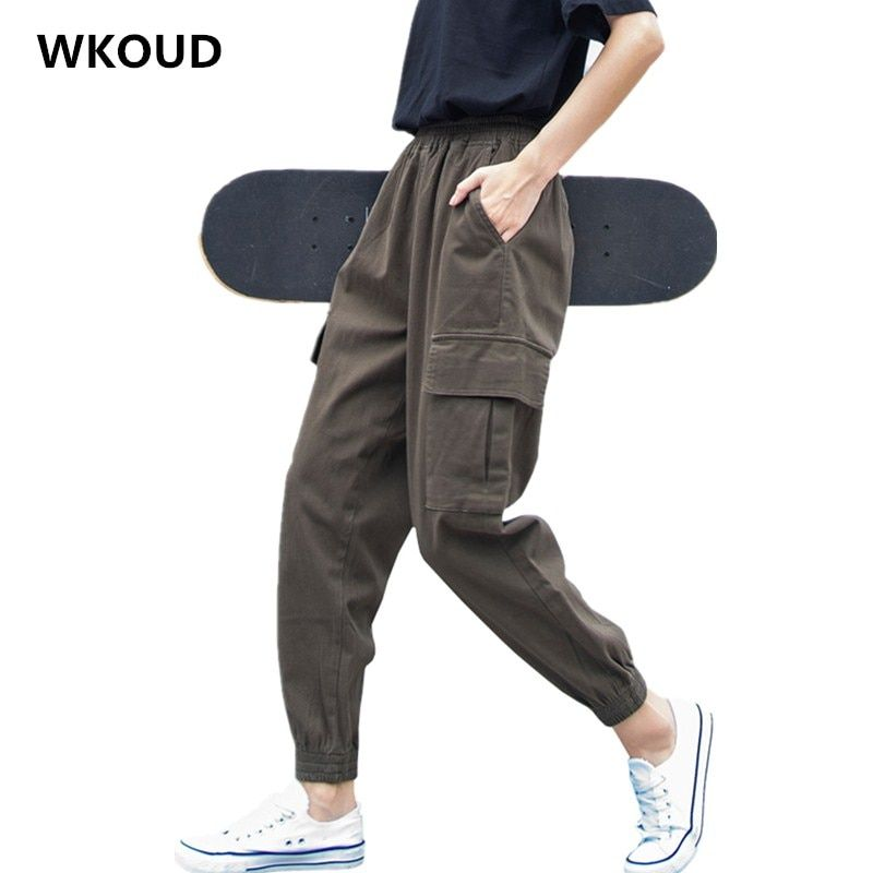 Cheap Pantalones Y Pantalones Pirata Buy Directly From China Suppliers Wkoud Talla Grand Pantalones Hasta Los Tobillos Pantalones Cargo Mujer Pantalones Mujer