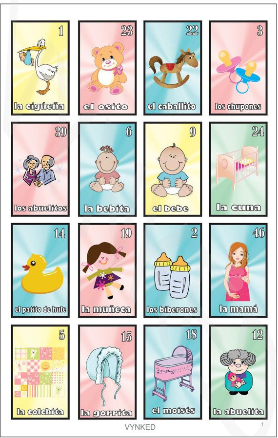 NEW La Loteria Bebe Baby Shower Bingo Spanish edition ...
