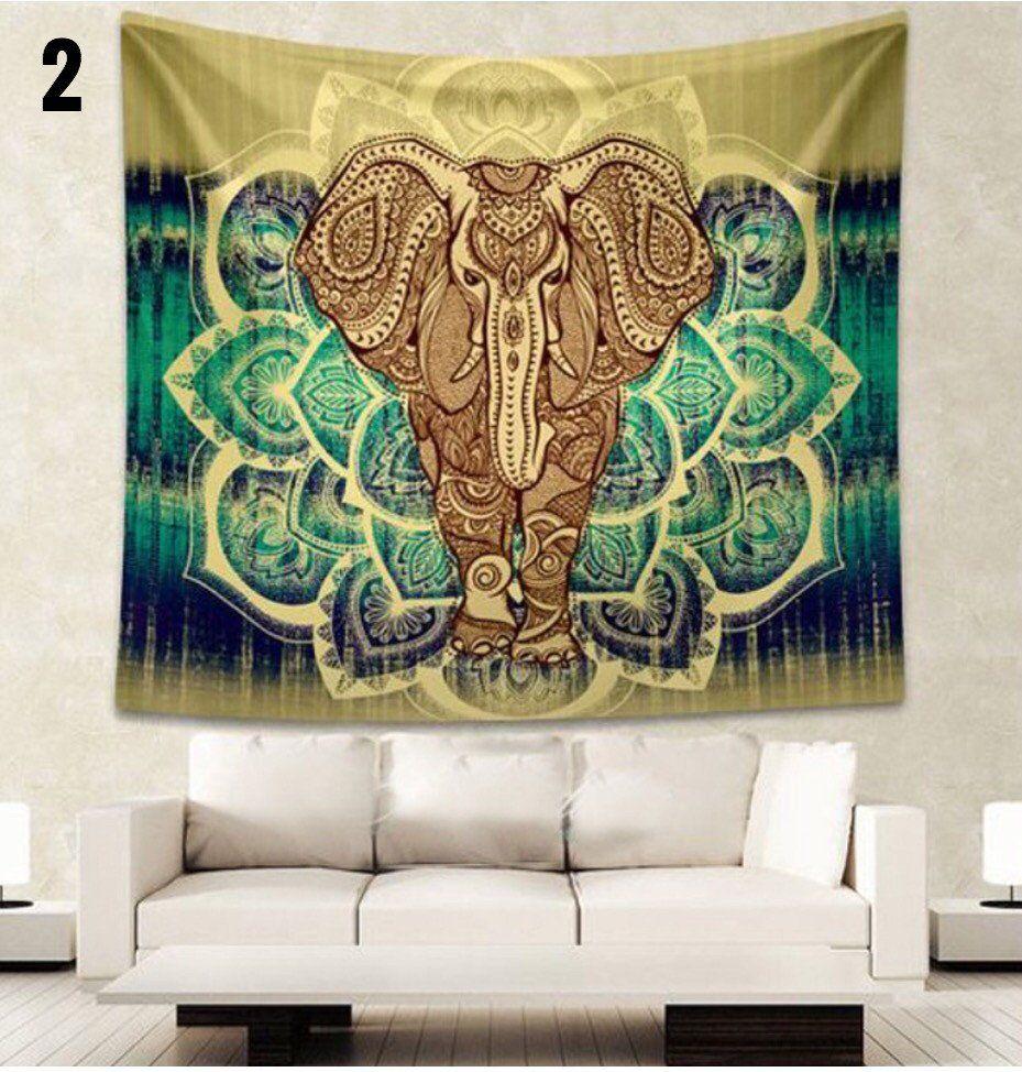 Beautiful Elephant Tapestry Pics