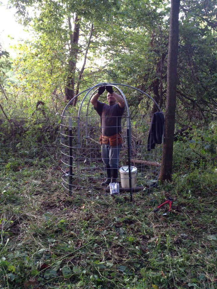 Image result for deer blind wire panels deer hunting for Pvc ground blind plans