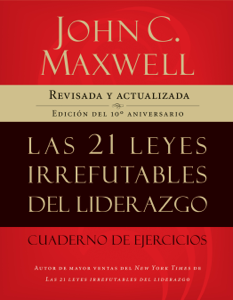 Download Las 21 Leyes Irrefutables Del Liderazgo Cuaderno De Ejercicios Libros Pdf Epub John C M Leadership Books Education Quotes Books