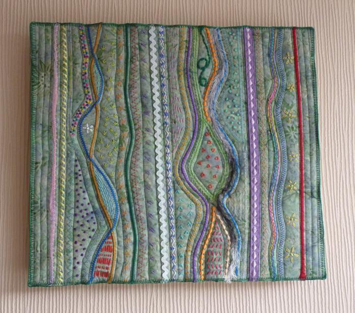 textile art on walls - Google Search