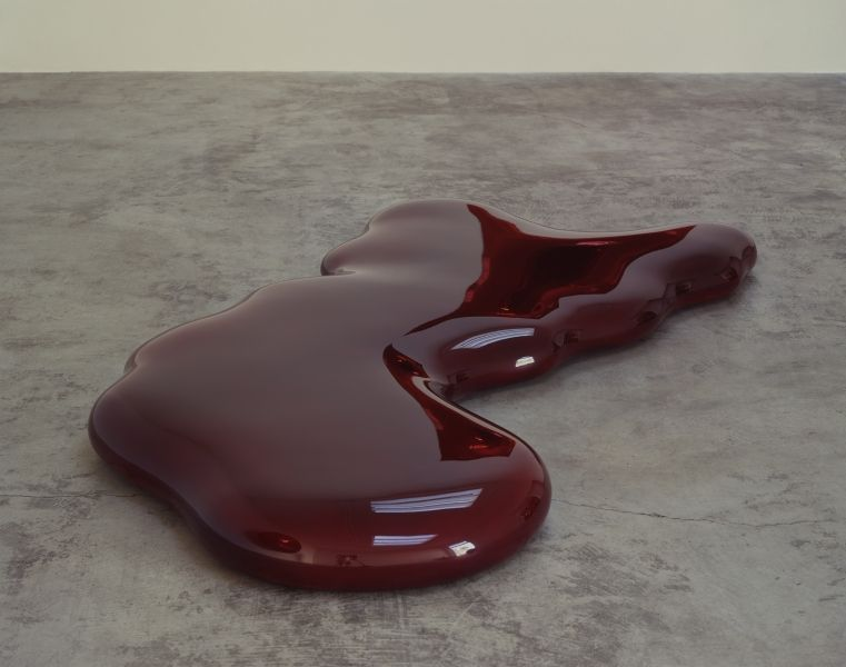 Anish Kapoor Blood 2000 Fiberglass & lacquer 91 x 48 x 6 inches