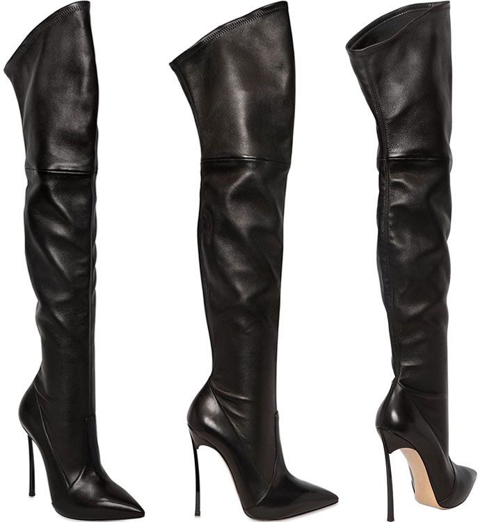 ebaa37cc4db5 Casadei Blade Stretch Leather Boots
