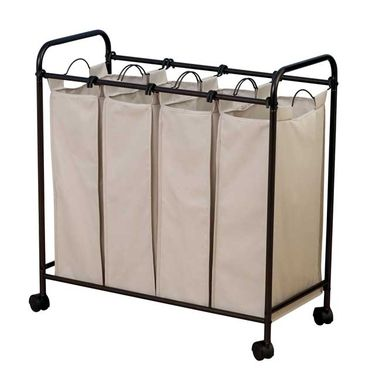 Heavy Duty 4 Bag Laundry Sorter With Wheels By Household