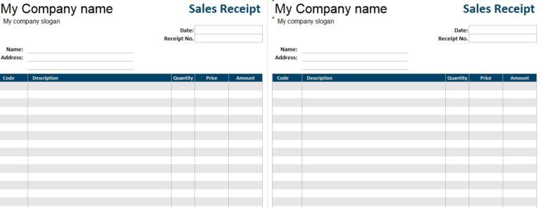 Printable Sales Receipt Template almora Pinterest Template and