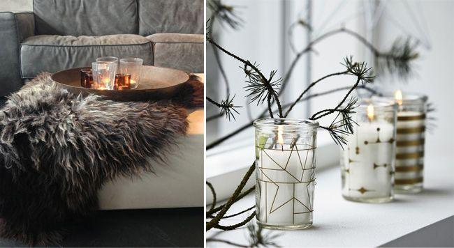 d coration d 39 hiver salon fourrure en peau mouton et bougies mademoiselle claudine le blog. Black Bedroom Furniture Sets. Home Design Ideas