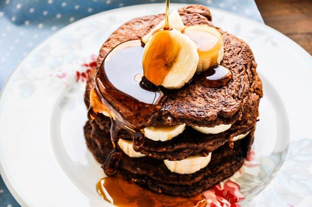 Schoko-Mandel-Pancakes