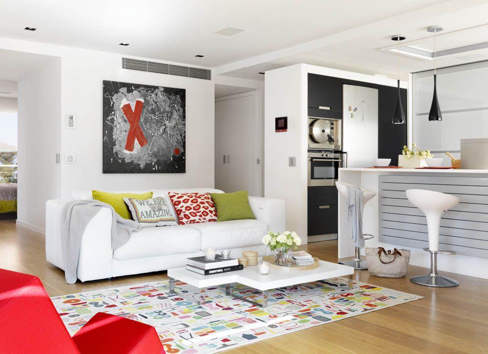 Decoracion #Eclectico #Cocina #Sala de estar #Mobiliario de cocina ...