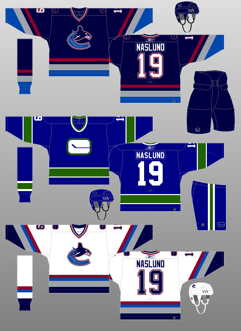 Vancouver Canucks 2006-07 - The alternate jersey is replaced by a vintage  jersey that had been worn on occasion the previous two seasons. d09cd3c24