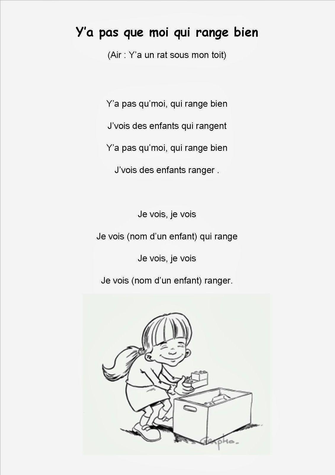 Berühmt Ma petite maternelle: Comptine #15 On range la classe | école  CJ29