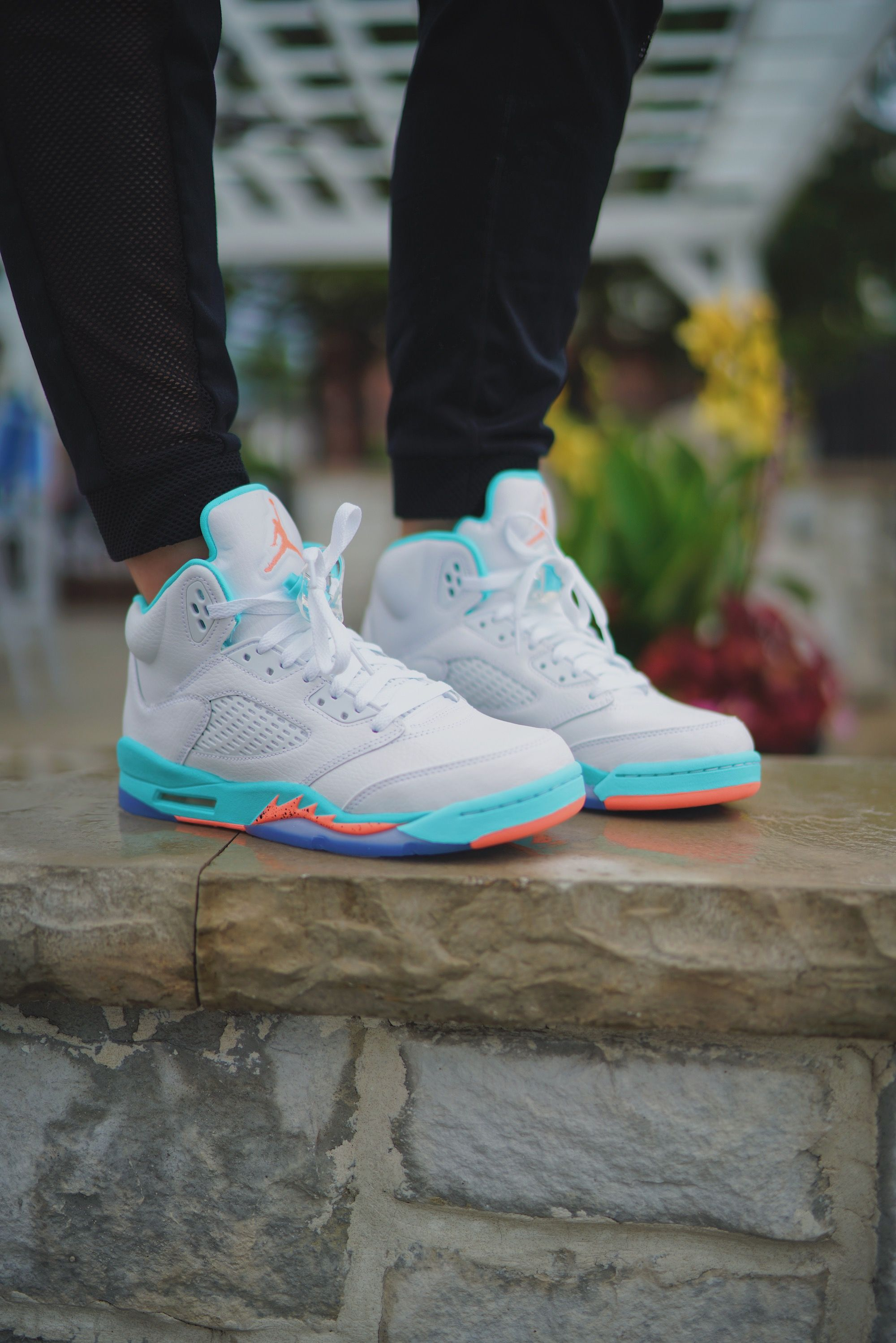 huge discount 7fb81 ed490 Aqua Air Jordan Retro 5  finishlinewomen