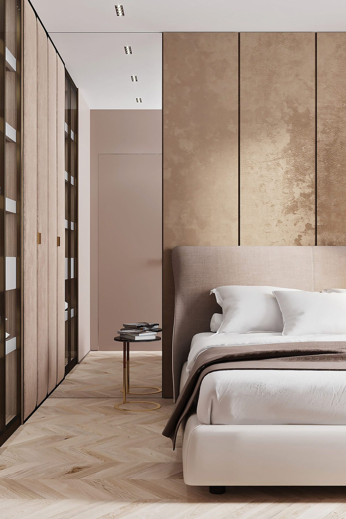 Marble Bedroom: 3 Luxe Home Interiors With White Marble & Gold Accents
