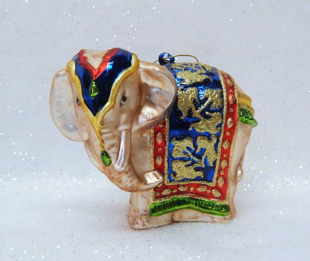 Collectible Christmas Ornaments rare collectible glass christmas ornament - ceremonial elephant