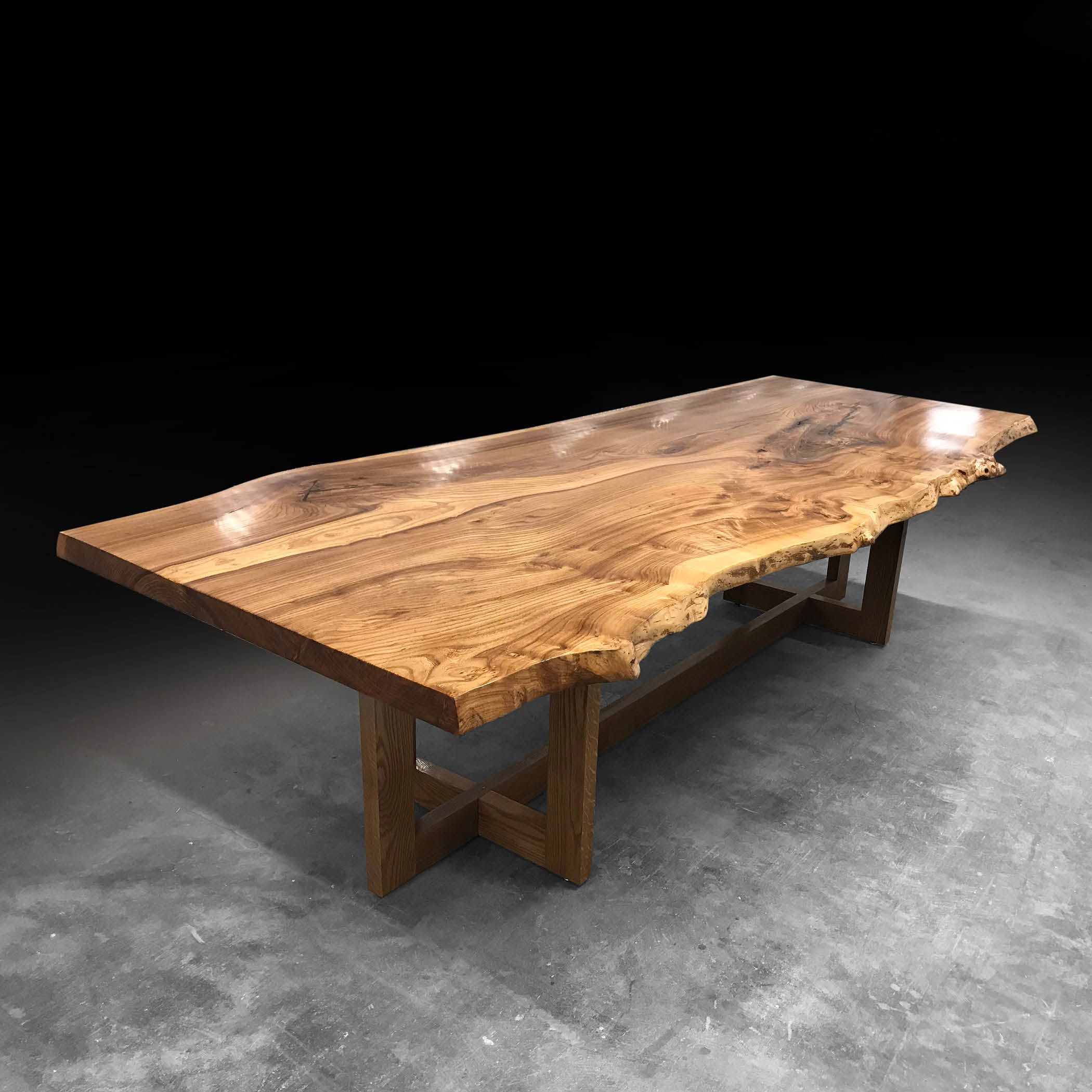Shown With Elm Wood Slab Furniture Made From Fallen Trees And