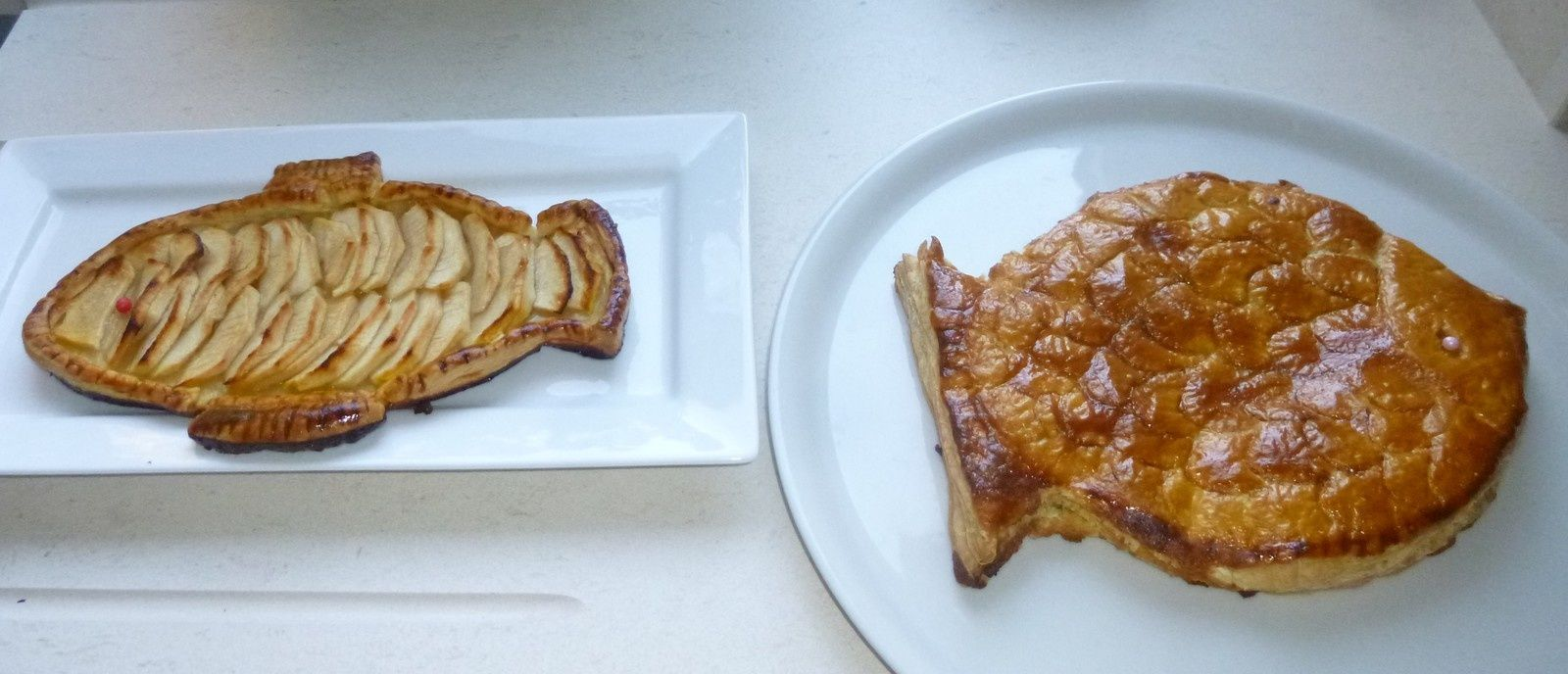 poissons d'avril!!! à la crème d'amandes ou aux pommes isabelledenimal.over-blog.com
