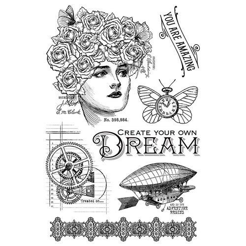 Graphic 45 Clear Acrylic Stamps Imagine Dream