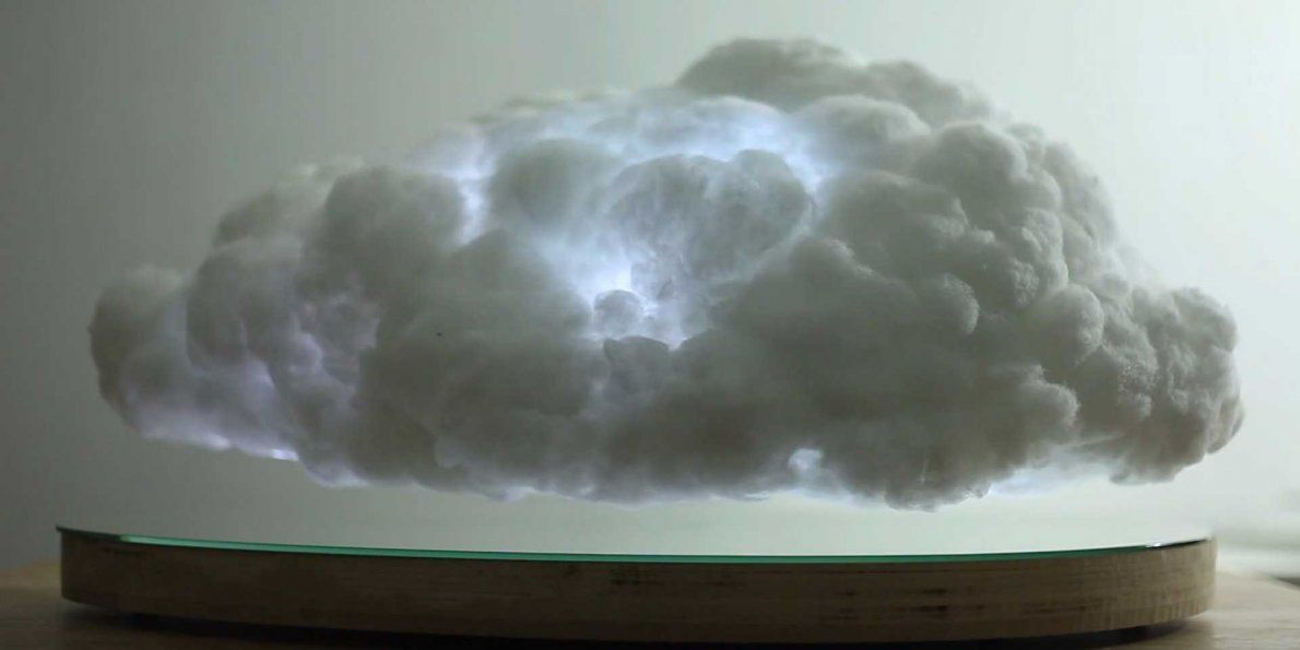 This Levitating Indoor Cloud Actually Has Its Own Lightning Clouds Levitation Thundercloud
