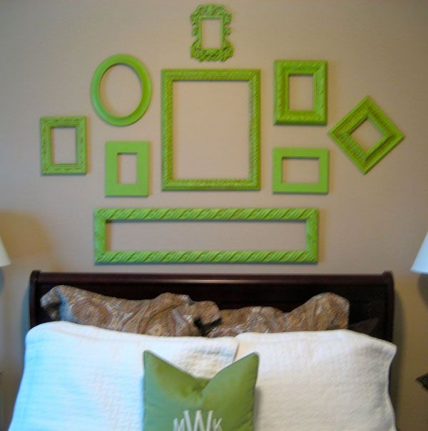 Decorating with Old Picture Frames, Money Saving Wall Decoration