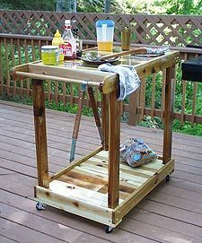build an outdoor grill cart | diy wood project | pinterest