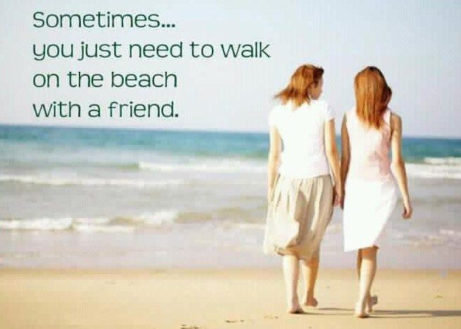 Sometimes, you just need to walk on the beach with a friend ...