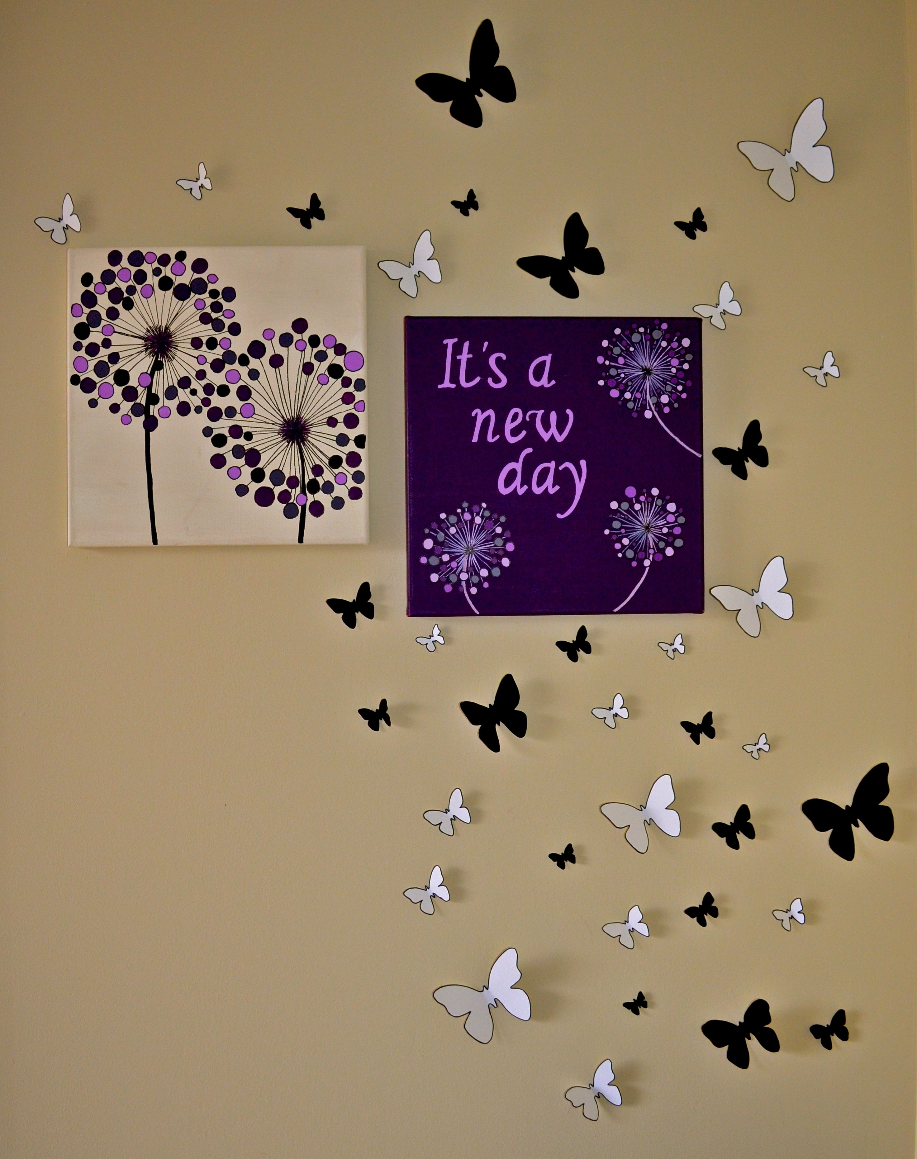 Easy Canvas Painting Super Fun And Easy Canvas Painting And 3d Butterflies Canvas