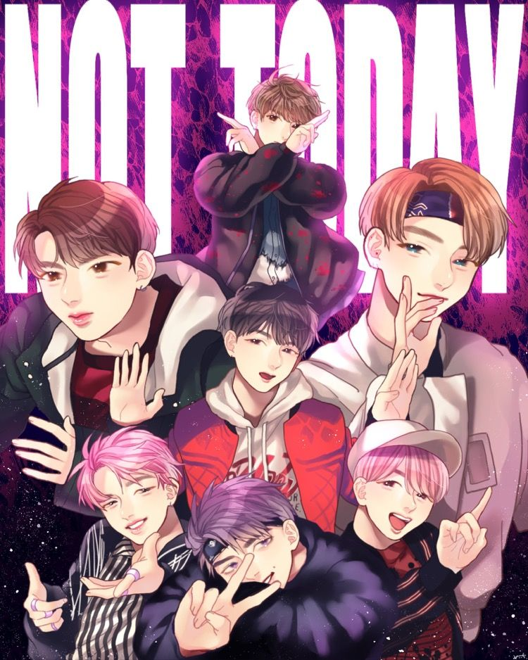 Not Today (bts)mi vida Pinterest BTS, Fanart and Kpop