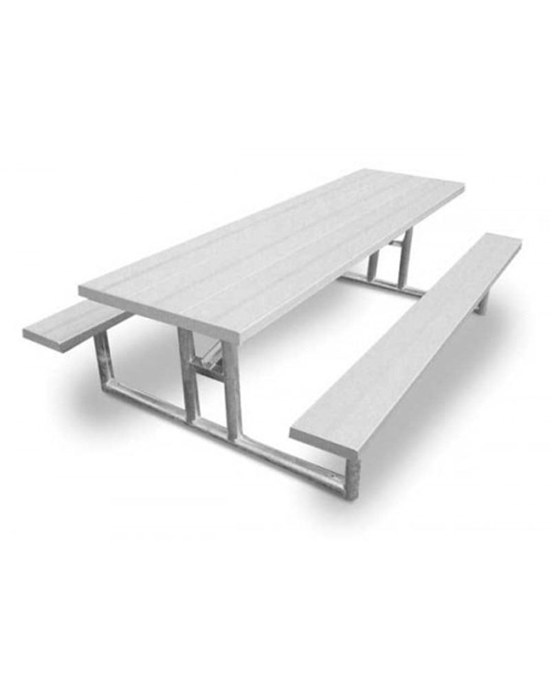 Ada Compliant Aluminum Picnic Table With Galvanized Steel Frames Heavy Duty In 2020 Picnic Table Steel Frame Galvanized Steel