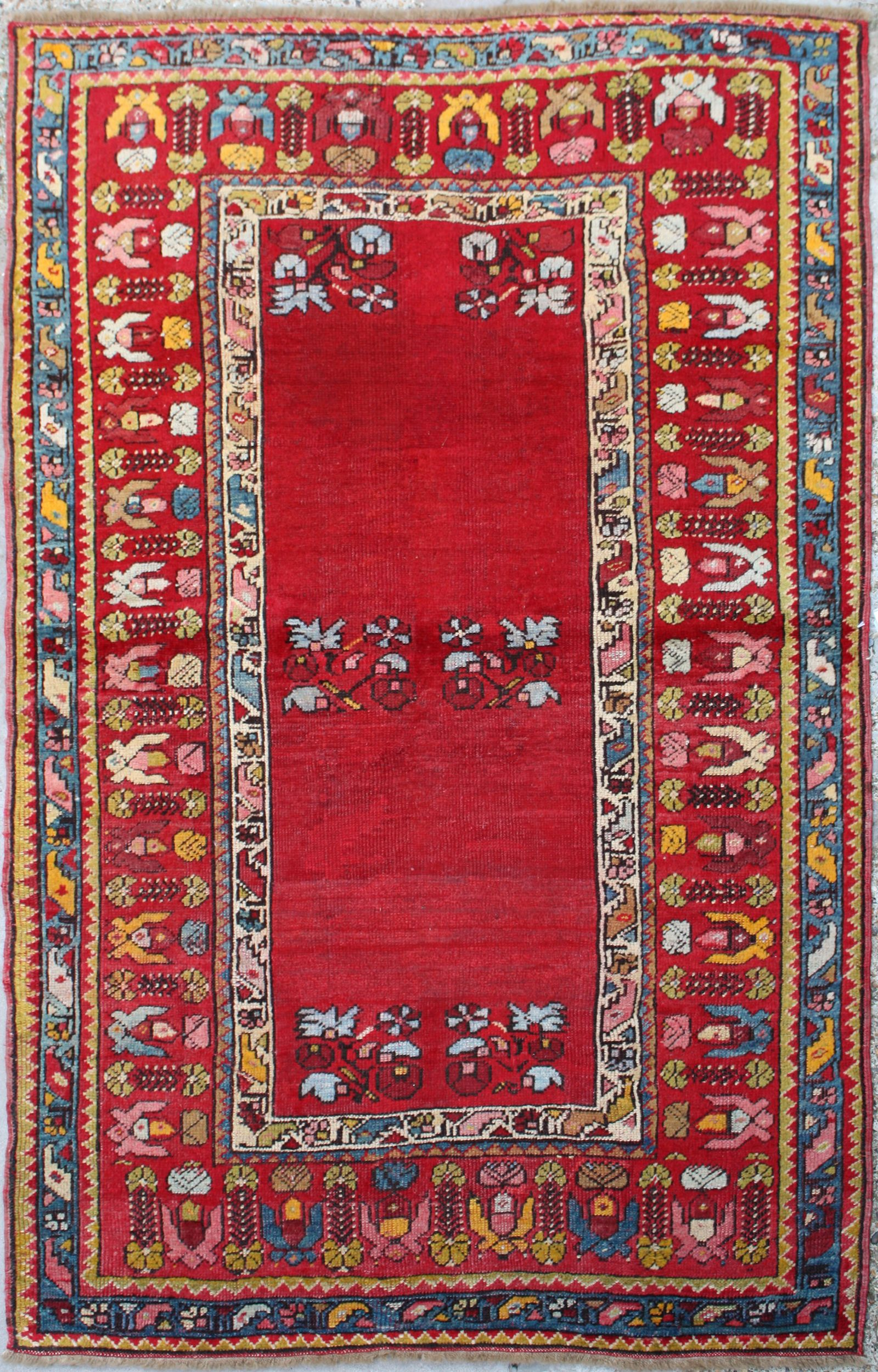 woveny handknotted worn out oushak shop area turkish rugs vintage rug