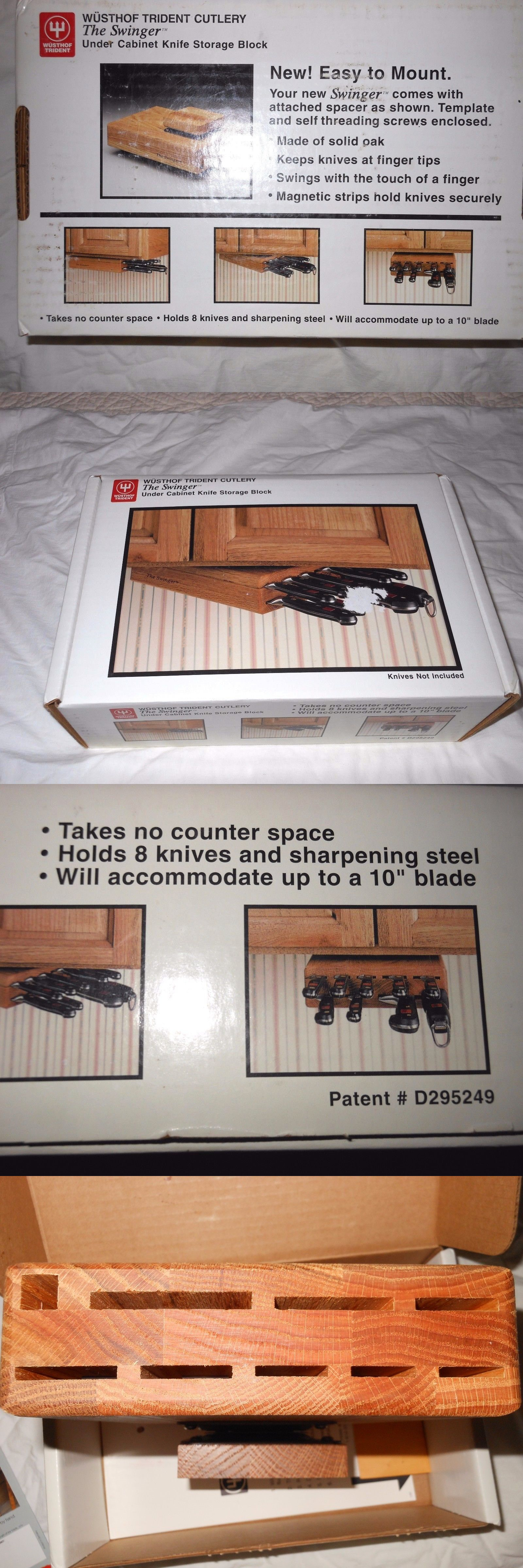 Knife Blocks And Storage 20638: Nib Wusthof Trident Cutlery Block Under  Cabinet The Swinger Wood