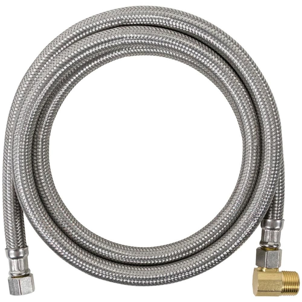 Certified Appliance Accessories 4 Ft Braided Stainless Steel Dishwasher Connector With Elbow Silver Stainless Steel Dishwasher Dishwasher Hose Stainless Steel