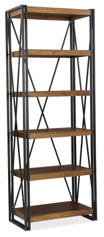 Furniture 5621 10445 Mwd Rustique 30 Inch Wide Shelving Unit With Crossed Natural Honey Indoor Storage