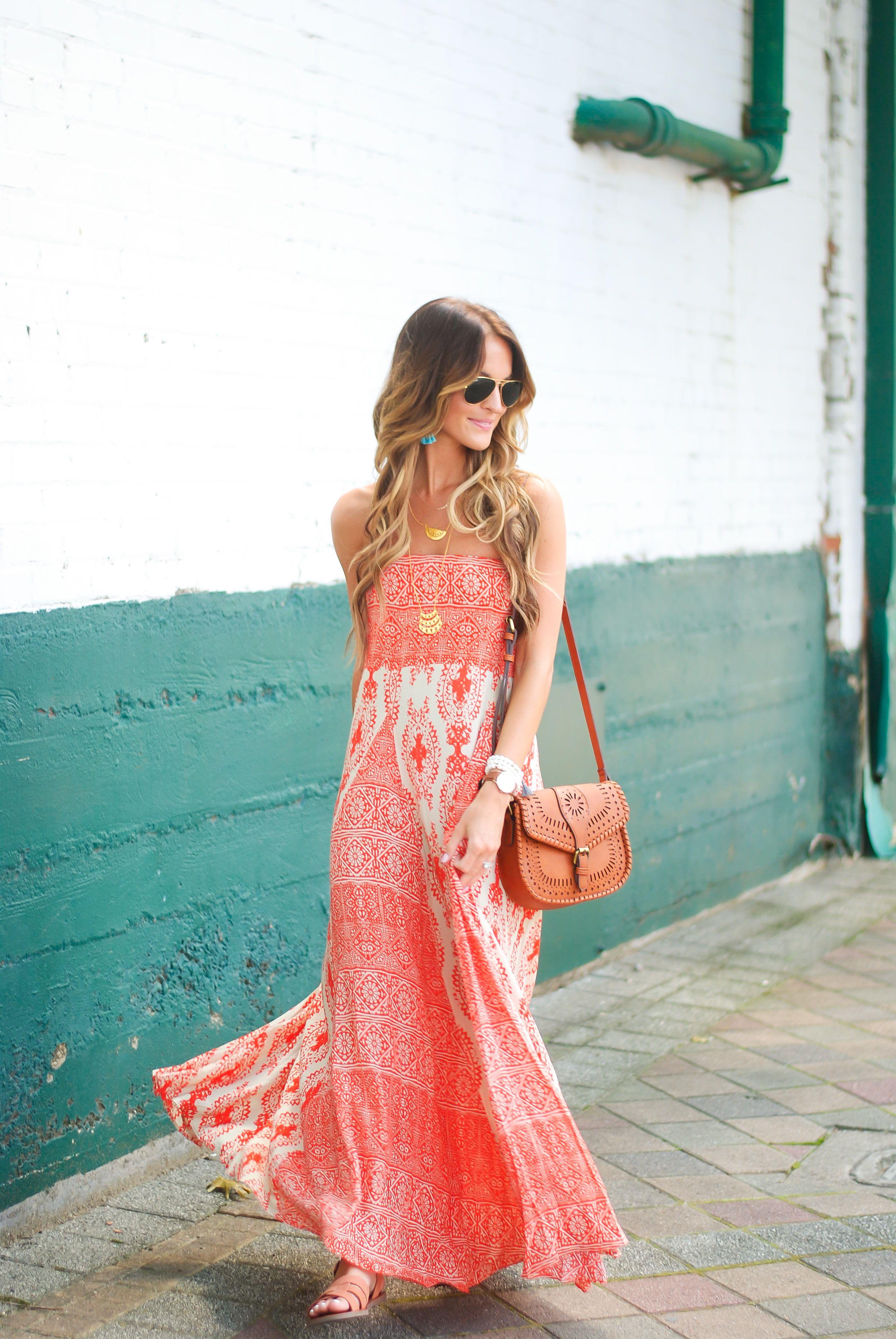 Boho Summer Maxi Dress Lauren Kay Sims Red Summer Dresses Summer Maxi Dress Boho Country Summer Dresses [ 3872 x 2592 Pixel ]